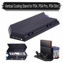 Многофункциональный 3 в 1 вертикальная подставка вентилятор охлаждения игры держатель двойной зарядная станция с usb хаб для PS4 Dual Shock 2 контроллеры