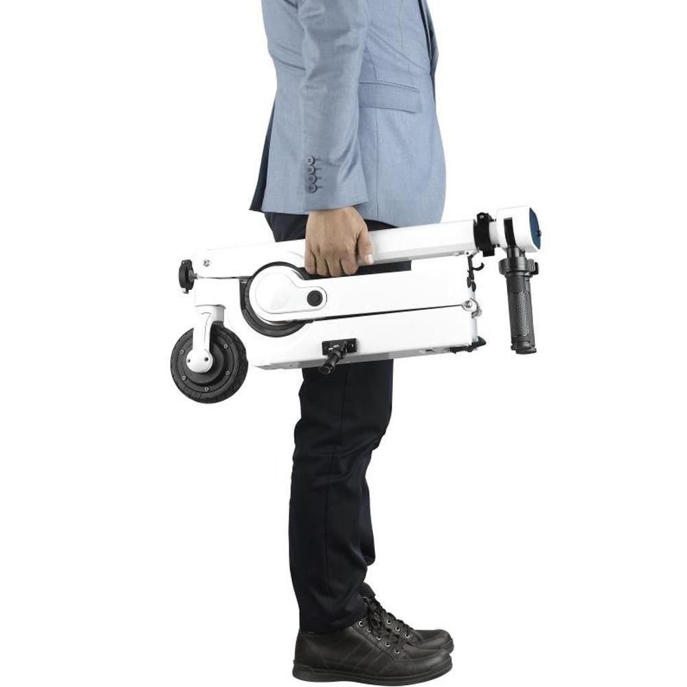 Ultra Mini Kleine Tiny 2 Abschnitt Folding Elektrische Fahrrad Skateboard Auto Stamm Partner Mobilität Roller Waren Des TäGlichen Bedarfs Elektro-scooter