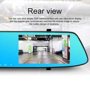 Image 2 - 5,0 pulgadas 1080 P HD coche DVR espejo con cámara de visión trasera visión nocturna Auto conducción grabadora de vídeo coche Dash cámara