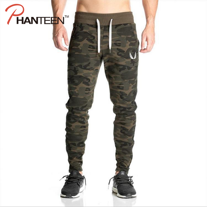 Spring Autumn Camouflage Camo Comfort Elastic Exercise Sweatpants For Men Fitness Workout Bodybuilding Muscle Building Long Pant