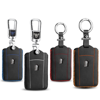 luckesy leather key cover for Toyota crown 2012 2014 2016 2017 car key case holder new hot sale key2y
