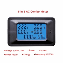 20A/100A AC 110-250V Power Meter LCD Digital Panel Power Watt Energy Meter Monitor Voltage Current KWh Voltmeter Ammeter Tester
