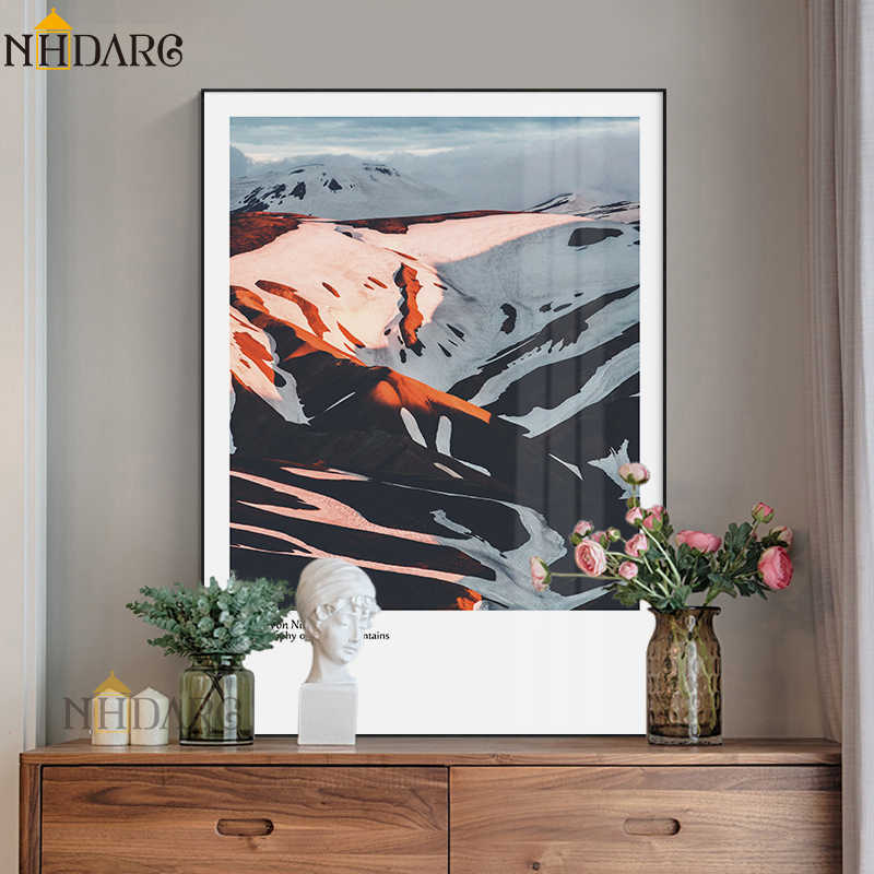 NHDARC Canvas Printings Poster and Painting Art Modern Fashion Nordic Mountain Scenery Wall Picture Home Decor ARC789