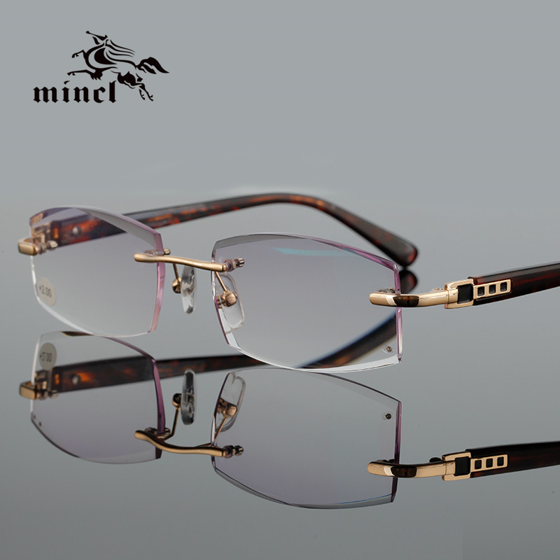 Rimless Glasses With Rhinestones : Popular Rhinestone Reading Glasses-Buy Cheap Rhinestone ...