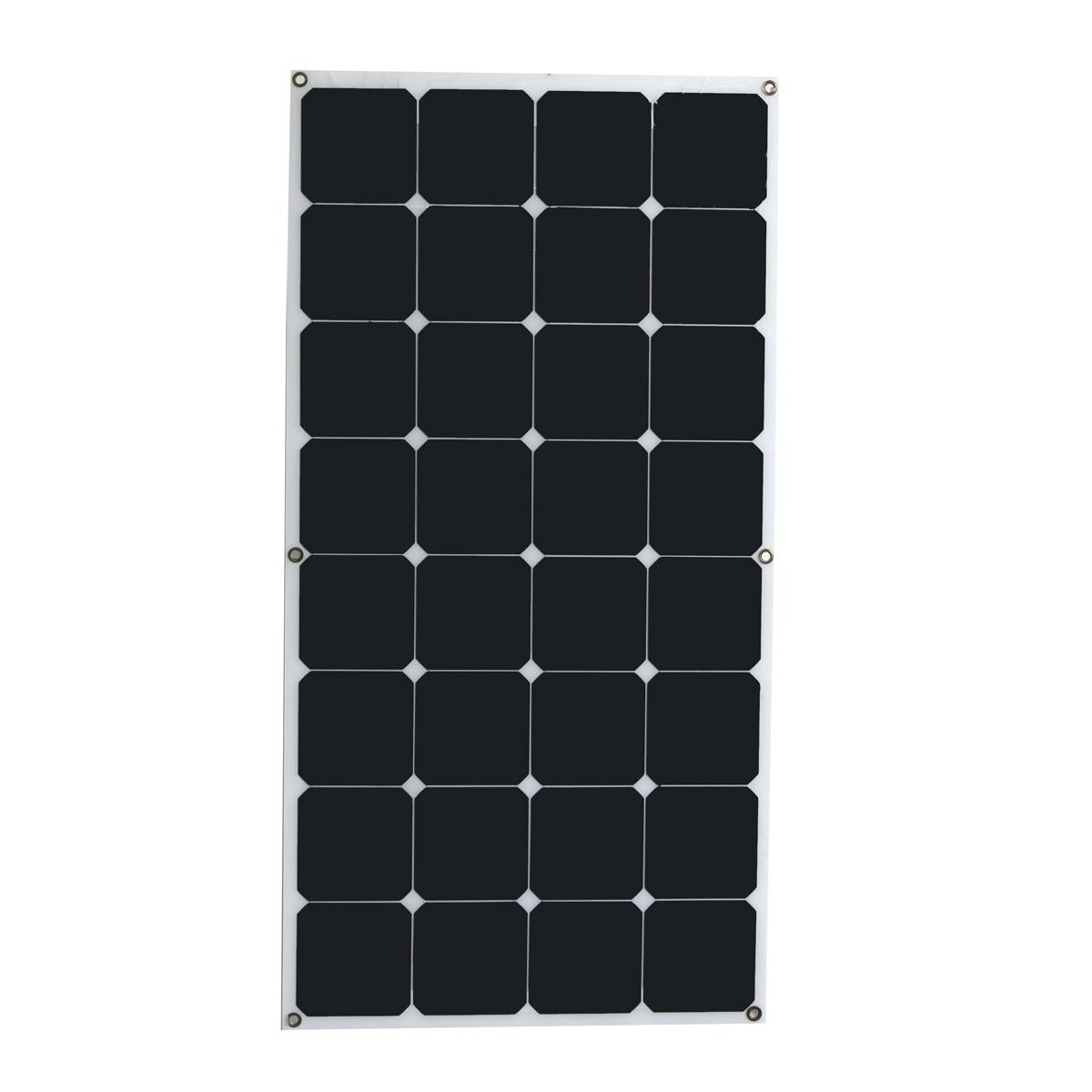 High conversion rate and high efficiency output 18V 100W Monocrystalline Solar Panel Semi flexible diy solar module for boat RV
