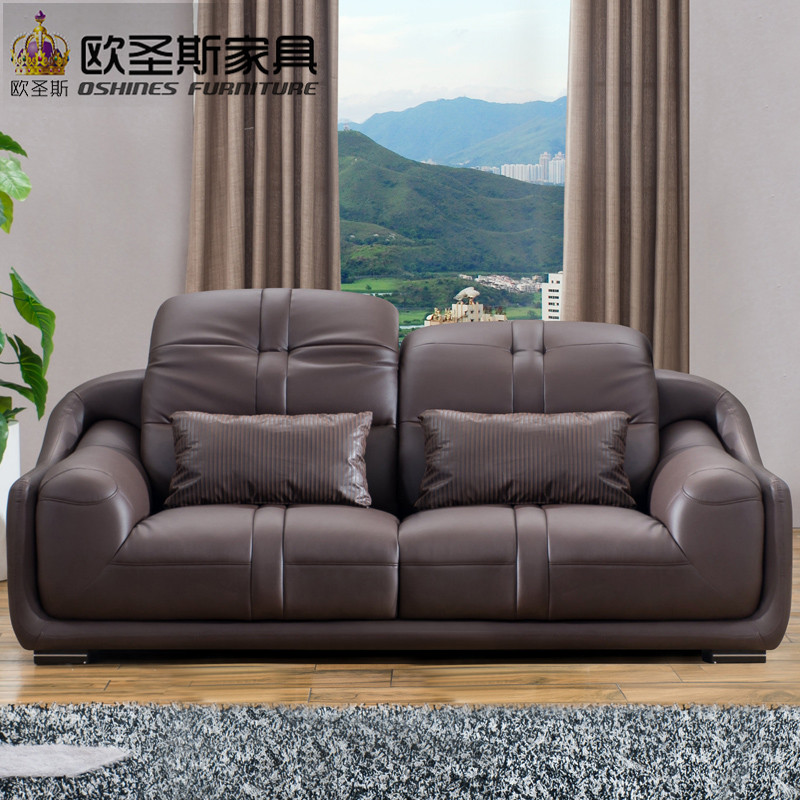 2019 New Model Style Italy Genuine Real Leather Sectional ...