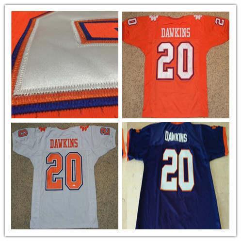 buy popular 8d95c 4faf6 Stitched #20 Brian Dawkins Jersey Clemson Tigers Jerseys ...
