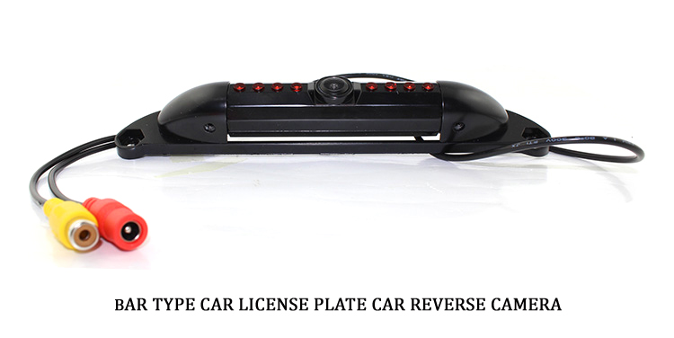 car license plate frame camera bar type for american market backup rear view parking system night