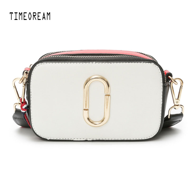 TIMEOREAM Ms. Bag 2018 New Fashion Handbags Hit The Color Original Designer Shoulder Bag Messenger Wild Small Square Package