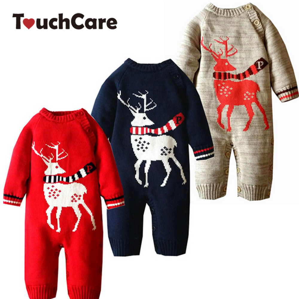 Infant Winter Cotton Thick Christmas Baby Rompers Newborn Soft Fleece Ropa Bebes Costume Cute Long Sleeve Toddler Jumpsuit 2017 spring newborn rompers baby boys girls clothes long sleeve cute cartoon face cotton infant jumpsuit queen ropa bebes 0 24m