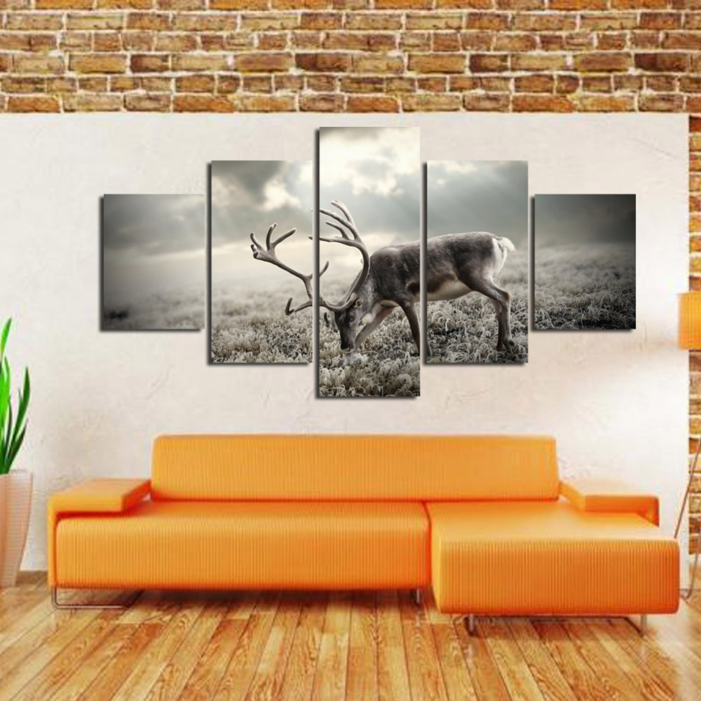 Painting For Living Room Wall Aliexpresscom Buy Deer Paintings For Living Room Wall Animal