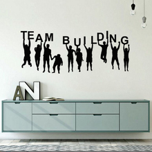 Office Room Decoration Team Building Quote Wall Decal Vinyl Teambuilding Stickers Art Poster AY1782