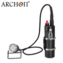 ARCHON DH40 WH46 Canister Diving Light Kit XM-L2 4000lm 200M underwater waterproof diving torch with battery pack + charge cable archon dg150w wg156w diving flashlight 10000lm rechargeable dive light underwater photography torch with battery pack