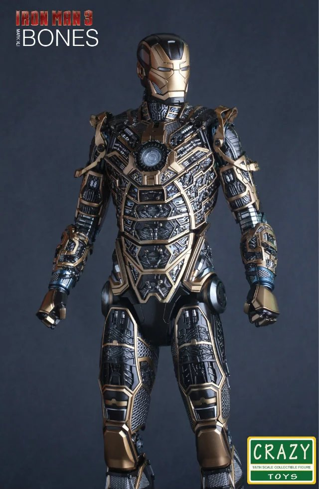 Crazy Toys Marvel Iron Man 3 Mark XLI BONES MK41 1:6 PVC Collectible Figure Model Toys 12 30cm