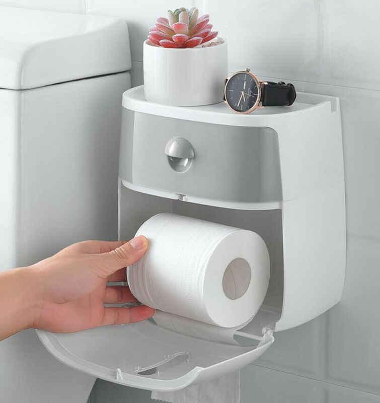 防水ウォールマウントトイレットペーパーホルダー浴室ティッシュペーパー箱ラックバスルームためトイレットティッシュペーパー壁はホット