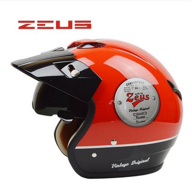 Authentic Swiss lion helmet motorcycle retro built-in lens ZS-381C