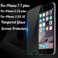 Tempered Glass Case For Alppe iPhone 7 7 plus 6 6S 5 5S SE Cover Screen Protector Protective Film For iPhone 7 Case Capa