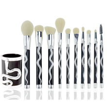 7/10pc Snake Shape Makeup Brushes Set Foundation Powder Eyeshadow Contour Concealer Blush Comestic Brush Kit Beauty Make Up Tool