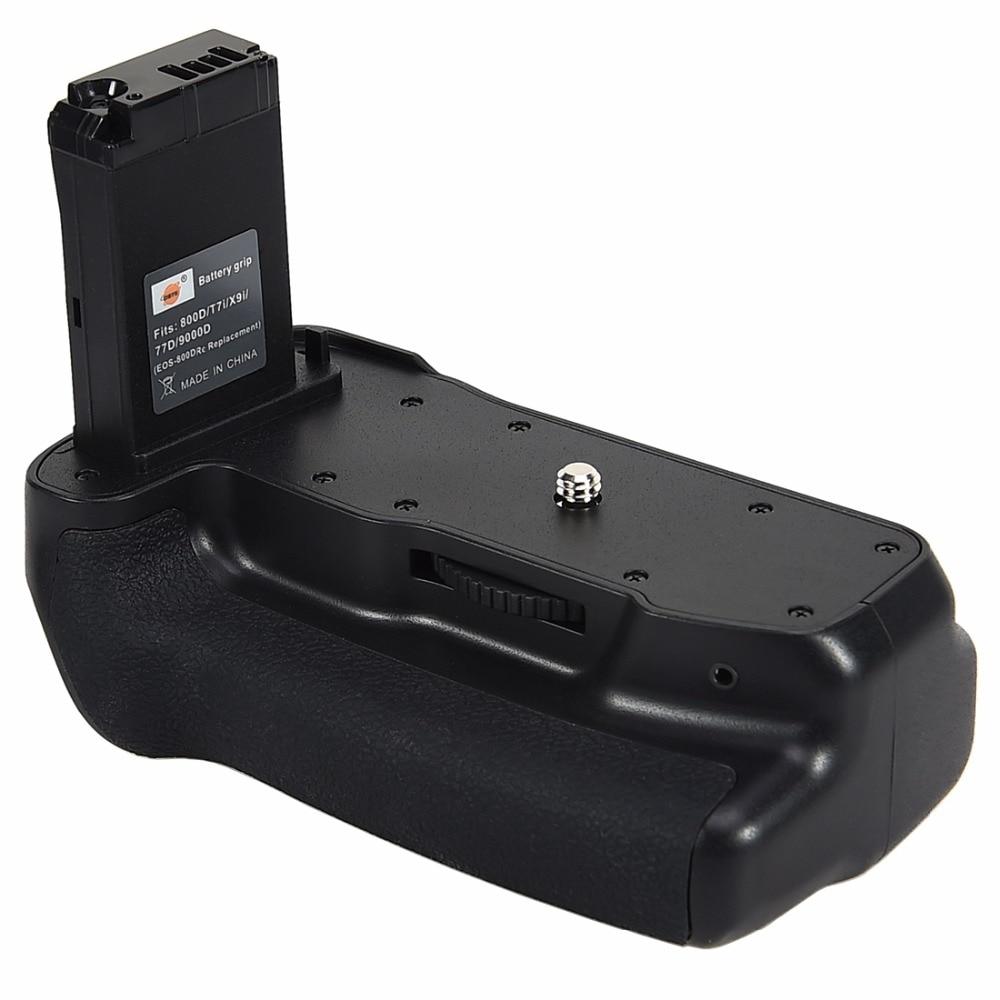 Poignée de batterie verticale DSTE pour Canon EOS 800D/T7i/77D/Kiss X9i/9000D equipe appareil photo reflex numérique avec télécommande - 3