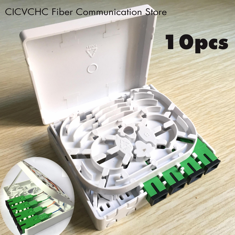 10pcs 4 cores Fiber Terminal Box FTTH ODN