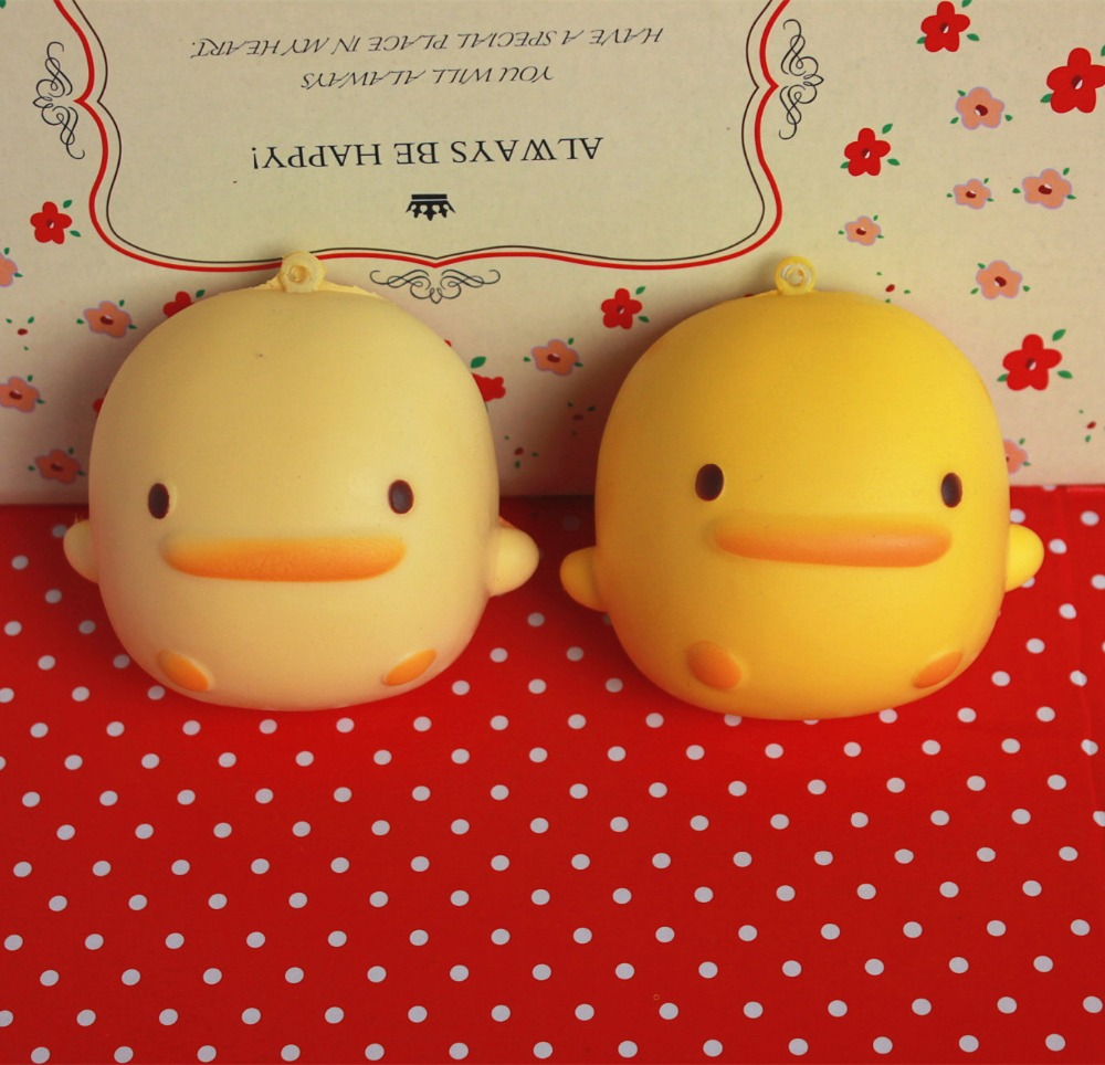 7cm * 6cm kawaii šupinatá vůně Žlutá kachna queeze buchta hračky pro klíče mobilního telefonu šupinatá chléb Rilakkuma