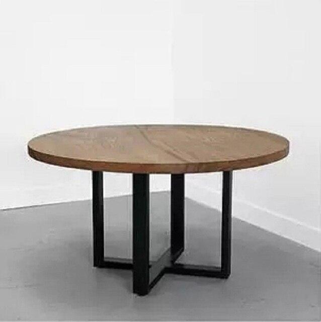 New Antique fare il vecchio legno semplice tavolo da pranzo rotondo ...
