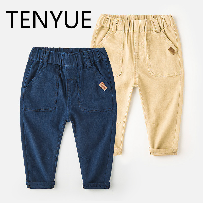 TENYUE, Spring and Autumn Babies, 3 Autumn Children's Trousers 4 Children's Casual Pants, Children's Autumn Trousers. недорго, оригинальная цена