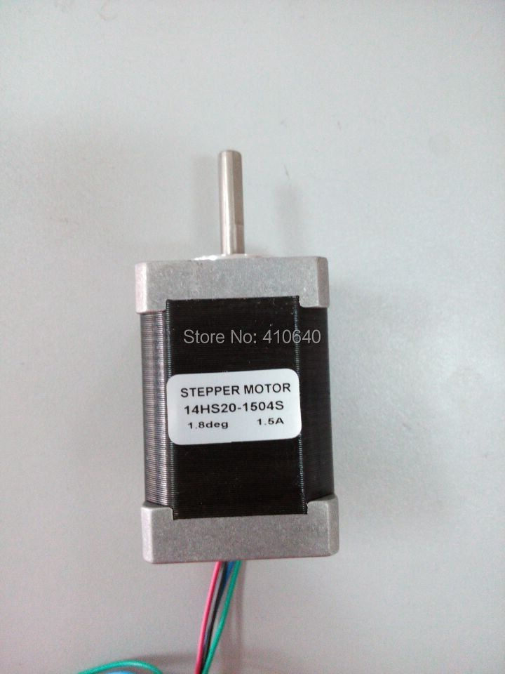 FREE SHIPPING stepper motor 14HS20-1504S  L52mm  Nema14 with 1.8deg 1.5 A  40 N.cm with bipolar 4 lead wires