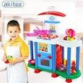 Nova chegada super grande casa de brinquedo das crianças menina casa cozinha cozinhar utensílios de cozinha conjunto talheres bebê educação toys presente