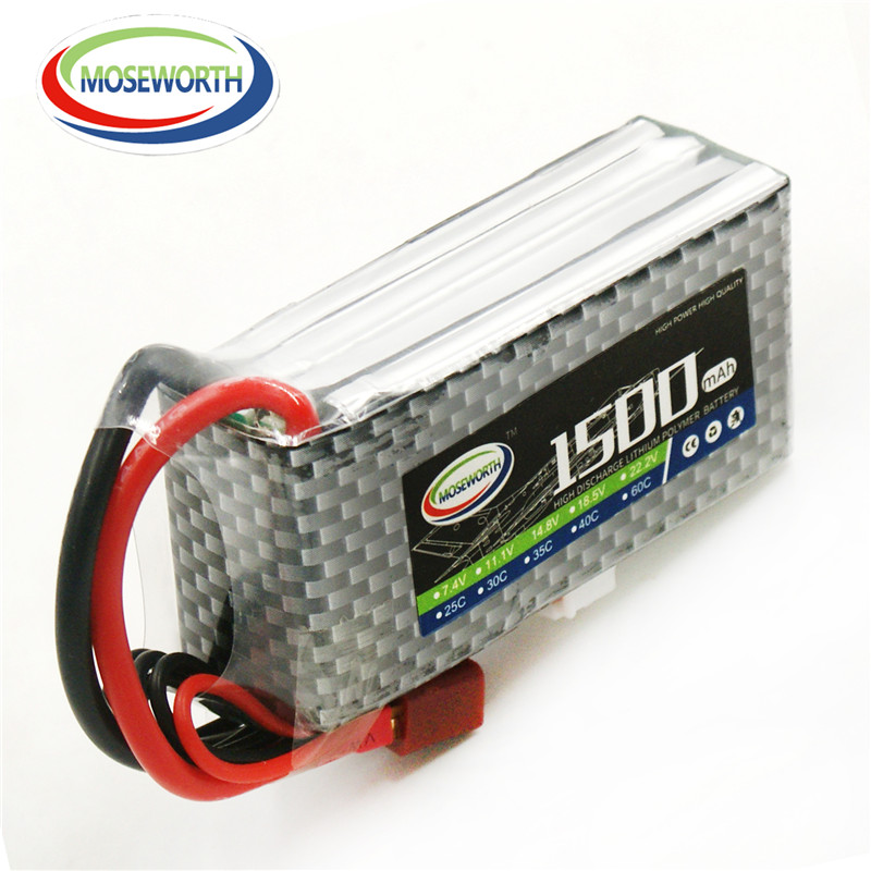 MOSEWORTH RC Lipo Battery 4S 14.8v 1500mAh 25C For RC Model Aircraft Car RC Boat Helicopter Quadcopter Airplane 4S 25C AKKU 1s 2s 3s 4s 5s 6s 7s 8s lipo battery balance connector for rc model battery esc