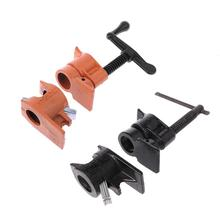 Woodworking Fixing Pipe Clamp Cast Iron Wood Gluing Clamps Heavy Duty Connector