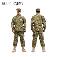 U.S Army BDU German Camouflage Suit Tactical Military Combat Airsoft Uniform jacket + Pants Men Medical Clothing Set