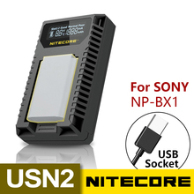NITECORE USN2 Digital Dual Slot Travel Camera Charger For Sony NP-BX1 Batteries DSC-HX350 DSC-H400 DSC-HX400 DSC-RX100M5