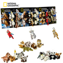 National Geographic  animals Plush Toys 12cm Stuffed Doll Party decorations Schoolbag Ornament Keychain Toys For Children