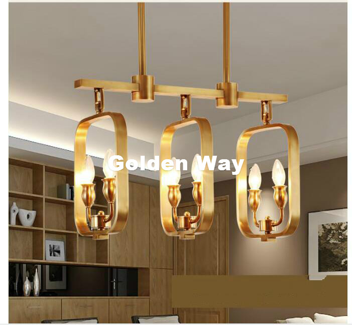 Nordic Modern Copper Pendant Lamp Brass Hanging Light Candle Chandelier Nordic Suspension Lighting American Stylish Pendant Lamp d1000mm h650mm 10 heads brass pendant lamp antique brass chandelier vintage copper glass ac 100