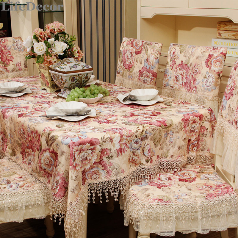 Fashion Lace Dining Table Cloth Fabric Table Cloth Gremial Table