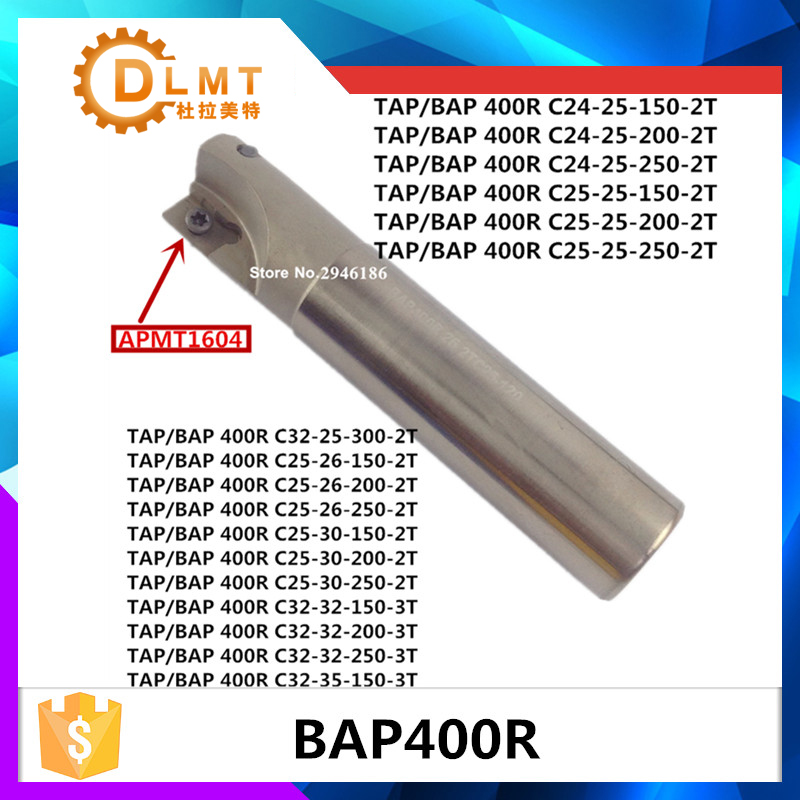 BAP400R C24 25 150 2T C32 32 150 C25 25 Discount Face Mill Shoulder Cutter For Milling Machine Boring Bar,machine,factory Outlet free shipping 3pte90 10 25 200 2t high speed milling indexable face mill boring bar turning tools milling cutter for 3pkt1004