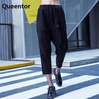 QUEENTOR Authentic 2017 Brand Autumn Winter Fashion Cross Harem Pants Women Wholesale
