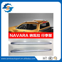 Aluminum alloy screw install roof rack roof rail bar for Nissan NP300 Navara 2016 2018