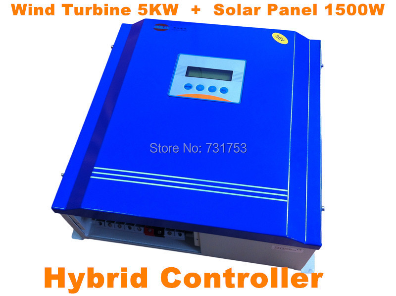 Rated Battery Voltage48V96V Wind Turbine5KW+PV Model 1500W Hybrid Controller With Communication LCD Display For Off-grid System free shipping 600w wind grid tie inverter with lcd data for 12v 24v ac wind turbine 90 260vac no need controller and battery