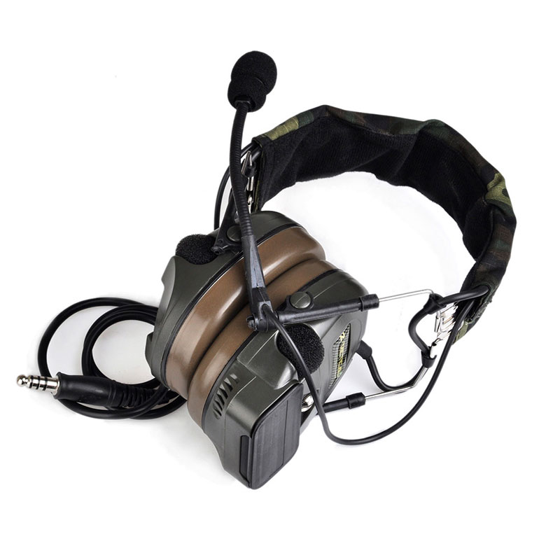 Airsoft Comtac Z 054 zComtac I Headset Style Tactical Headset OD Helmet Noise Canceling Headphone z tactical military headset headphone airsoft radio comtac ipsc od for ptt military radio z 111