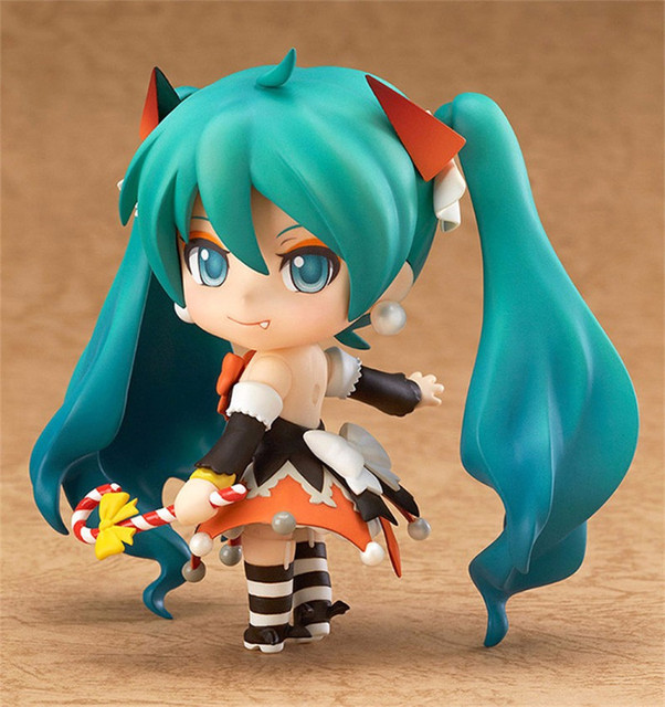 "Action 10cm Anime Nendoroid Vocaloid Hatsune Miku Halloween Ver Figure PVC 4"" Collection Hobby Model Doll Best Gift Cosplay Toy 2"