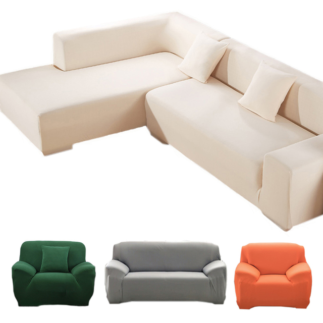 US $23.99 40% OFF|Stretch sofa cover Big Elasticity 100% Polyester Spandex  Couch Cover 1/2/3 Seater elastic Sofa Cover solid funda sofa covers-in Sofa  ...