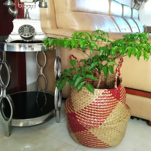 Handmade Decorative Storage Basket – Red