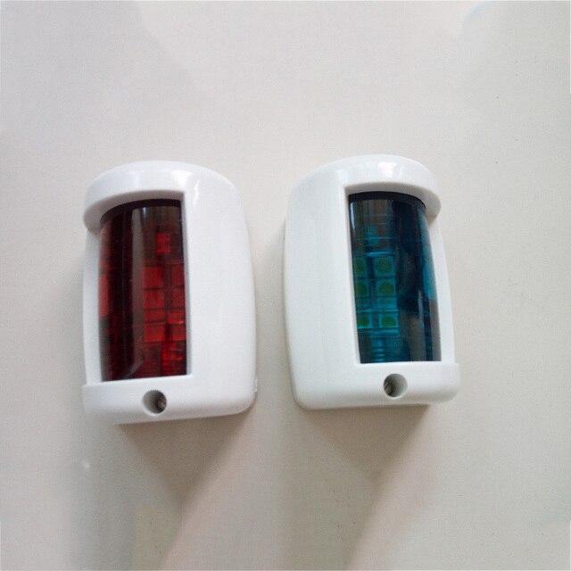 1 zestaw czerwony zielony Port/na prawą burtę światła 12 V łódź morska jacht LED światło nawigacyjne