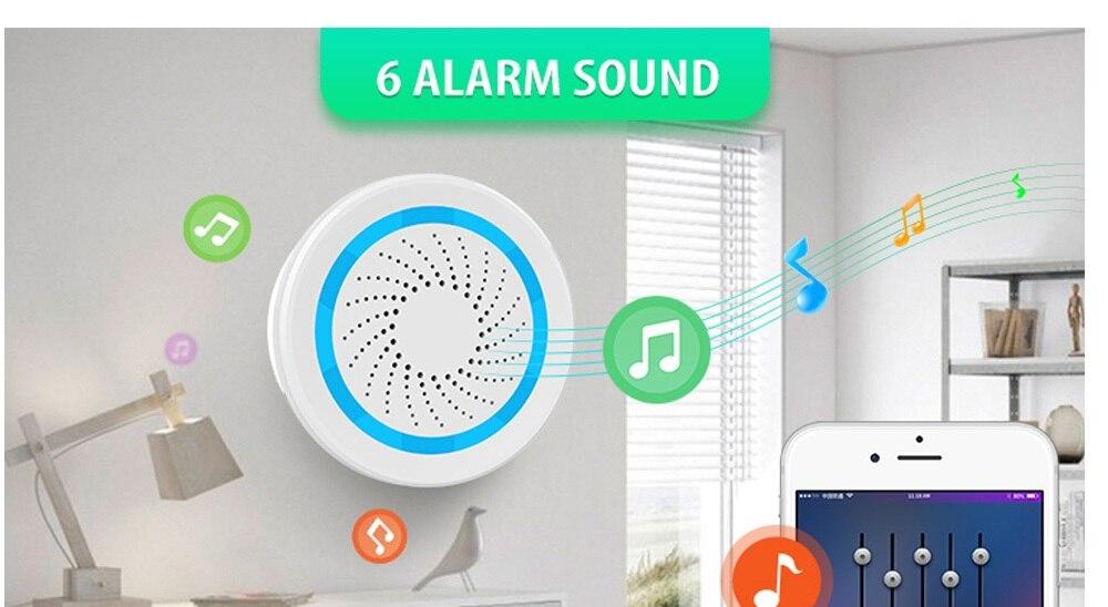 La sirène d'alarme Zwave de Version européenne alimentée par batterie peut également être chargée avec un capteur d'alarme de sirène USB pour la domotique Z Wave