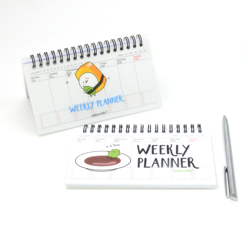 Weekly Planner Notebook Agenda 2018 2019 Note Book Week