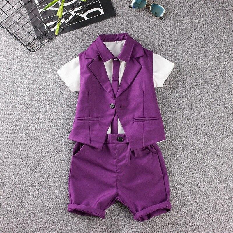 Tienda Online Rayas bebé prom traje (chaleco + Camisetas + Pant ...