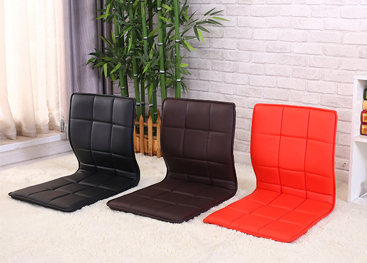 4pcs Lot Zaisu Chair Leather Asian Traditional Living Room Furniture Japanese Style Tatami