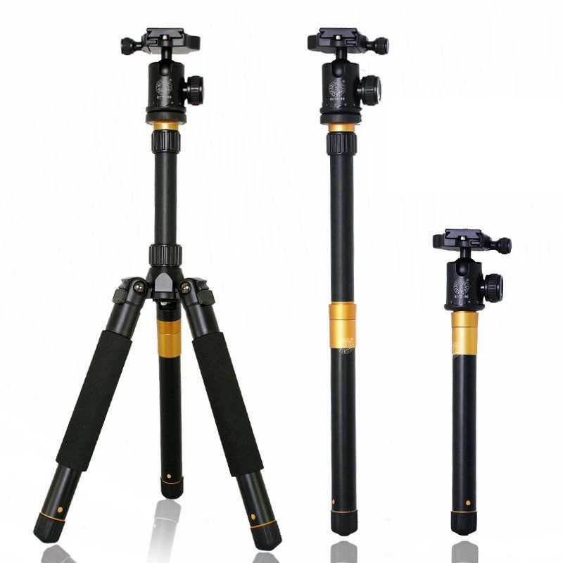 Eachshot Q999S Professional Photography Portable Aluminum Ball Head Tripod To Monopod For Canon Nikon Sony DSLR